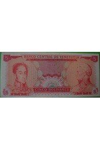 5 Bolívares Abril 29 1969 Espécimen sin Valor Anv.