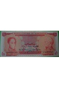 5 Bolívares Septiembre 24 1968 F7