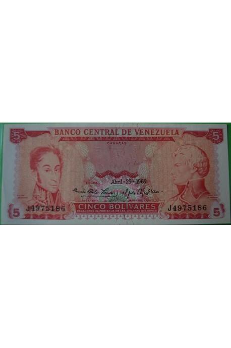 5 Bolívares Abril 29 1969 J7