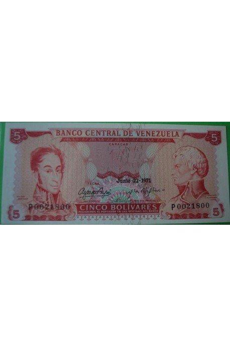 5 Bolívares Junio 22 1971 P7