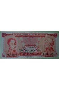 5 Bolívares Abril 11 1972 P7
