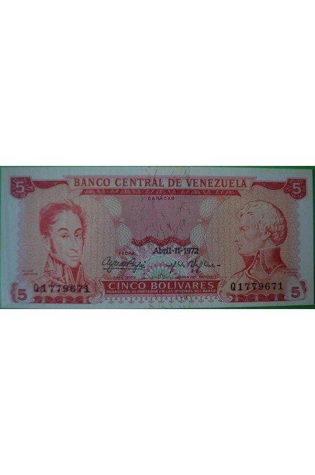 5 Bolívares Abril 11 1972 Q7
