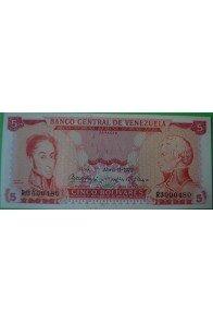 5 Bolívares Abril 11 1972 R7