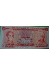 5 Bolívares Enero 29 1974 U7