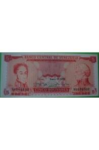 5 Bolívares Enero 29 1974 V7