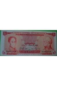 5 Bolívares Enero 29 1974X7