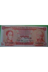 5 Bolívares Enero 29 1974 Y7