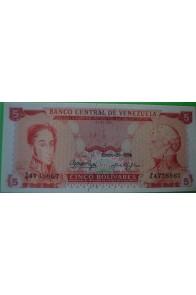 5 Bolívares Enero 29 1974 Z7