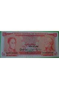 5 Bolívares Enero 29 1974 A8