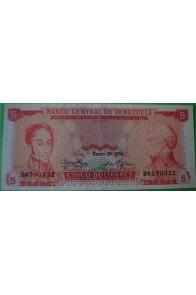 5 Bolívares Enero 29 1974 B7