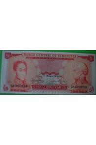 5 Bolívares Enero 29 1974 C7