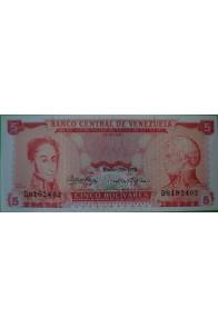 5 Bolívares Enero 29 1974 D7