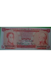 5 Bolívares Enero 29 1974 D8