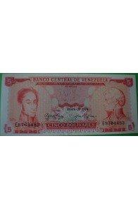 5 Bolívares Enero 29 1974 E7