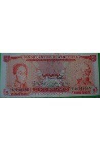 5 Bolívares Enero 29 1974 E8