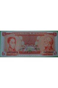 5 Bolívares Septiembre 21 1989 F7
