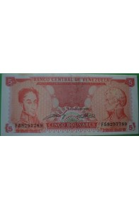 5 Bolívares Septiembre 21 1989 F8