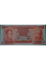 5 Bolívares Septiembre 21 1989 G8