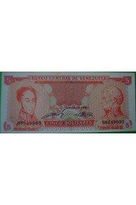 5 Bolívares Septiembre 21 1989 H7