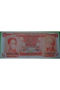 5 Bolívares Septiembre 21 1989 H8
