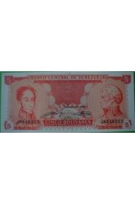 5 Bolívares Septiembre 21 1989 J7