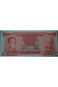 5 Bolívares Septiembre 21 1989 J8