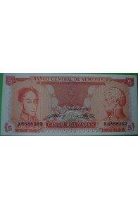 5 Bolívares Septiembre 21 1989 K7