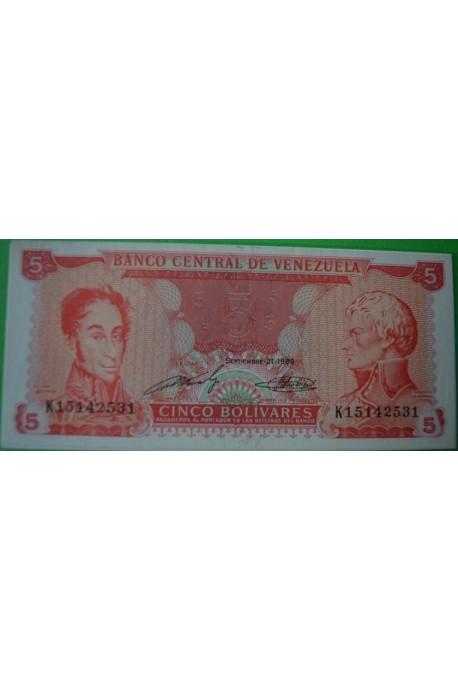 5 Bolívares Septiembre 21 1989 K8
