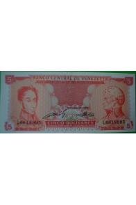 5 Bolívares Septiembre 21 1989 L7