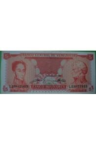 5 Bolívares Septiembre 21 1989 L8