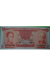 5 Bolívares Septiembre 21 1989 N8