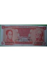 5 Bolívares Septiembre 21 1989 A8