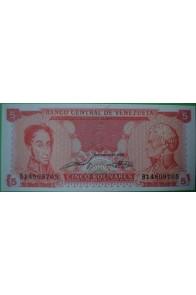 5 Bolívares Septiembre 21 1989 B8