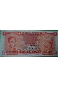 5 Bolívares Septiembre 21 1989 C8