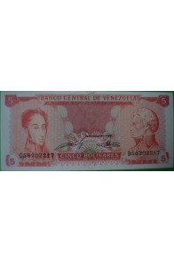5 Bolívares Septiembre 21 1989 D8
