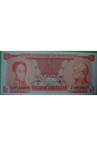 5 Bolívares Septiembre 21 1989 E8