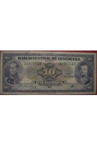 10 Bolívares Diciembre 6 1945 Serie A7