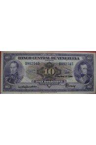 10 Bolívares Octubre 5 1950 Serie D6