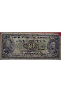 10 Bolívares Julio 31 1952 Serie G6