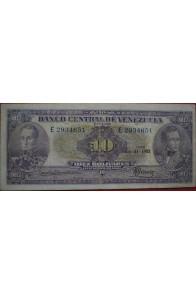 10 Bolívares Julio 31 1952 Serie E7