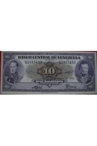 10 Bolívares Enero 14 1954 Serie G7