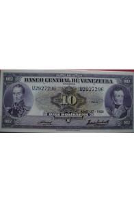 10 Bolívares Abril 17 1958 Serie U7