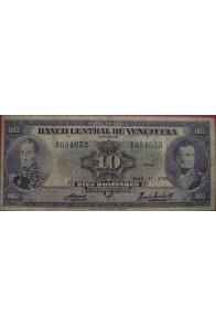 10 Bolívares Abril 17 1958 Serie X6