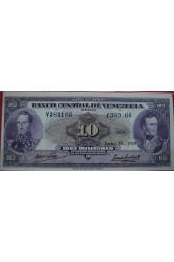 10 Bolívares Junio 18 1959 Serie Y6