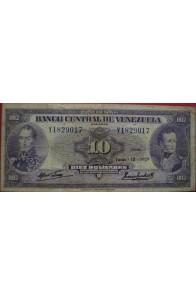 10 Bolívares Junio 18 1959 Serie Y7