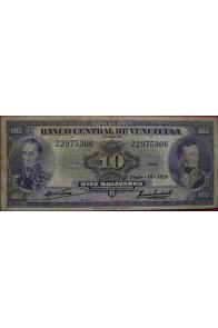 10 Bolívares Junio 18 1959 Serie Z7
