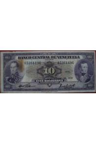 10 Bolívares Junio 18 1959 Serie A7