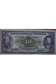 10 Bolívares Marzo 11 1960 Serie C7