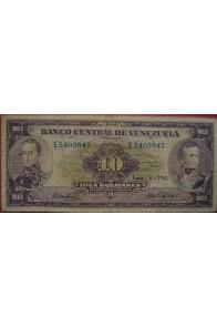 10 Bolívares Junio 6 1961 Serie E7