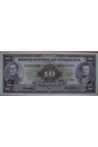 10 Bolívares Junio 6 1961 Serie G7